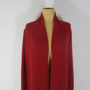 Neiman Marcus S Red Cashmere Cardigan Sweater